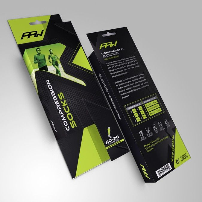 Create a packaging design for a premium Sport Compression Wear brand ...