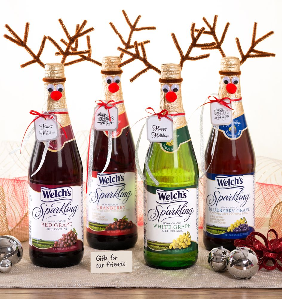 Make hostess gifts with Welch's Sparkling! Reindeer ...