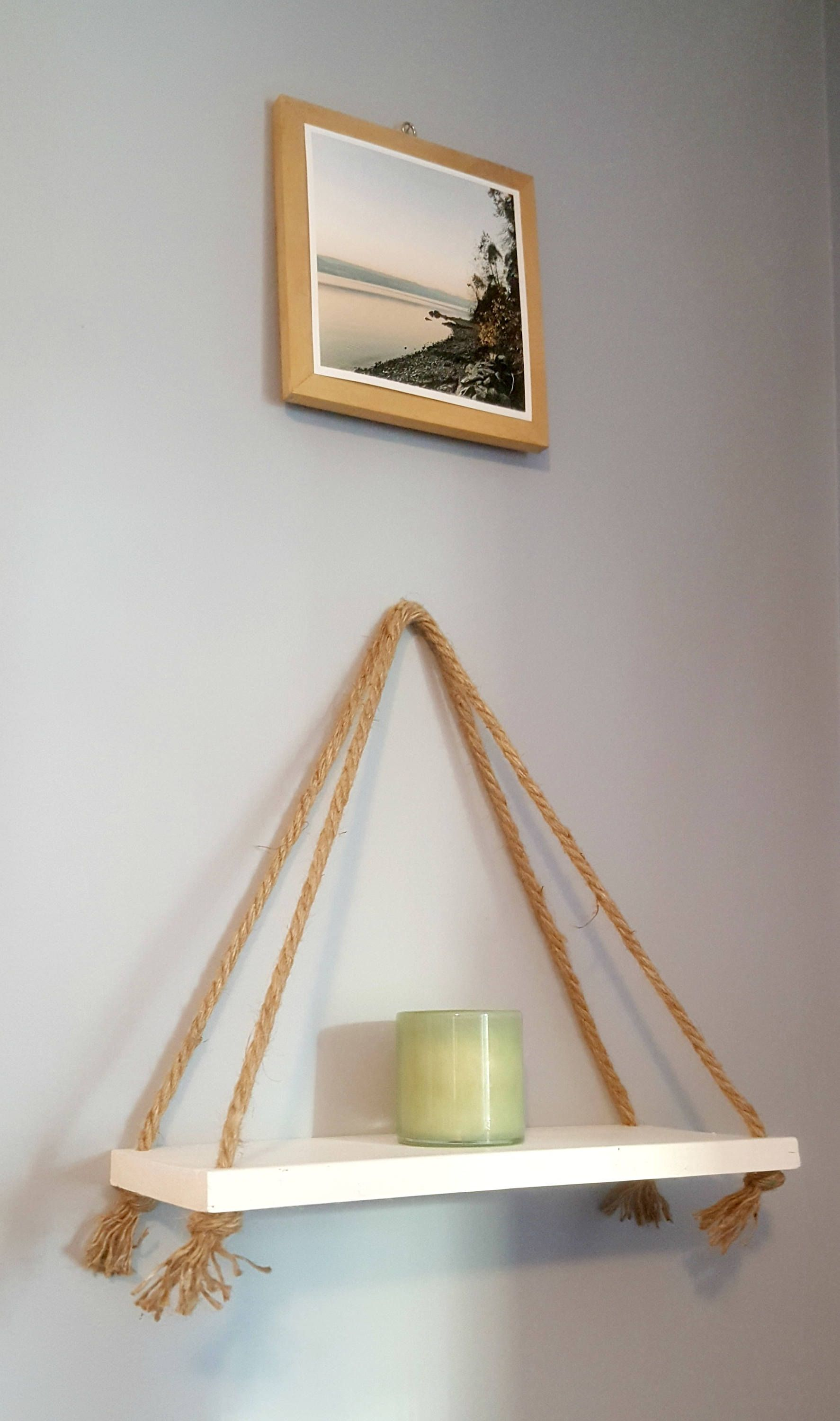 White Hanging Shelf Rope