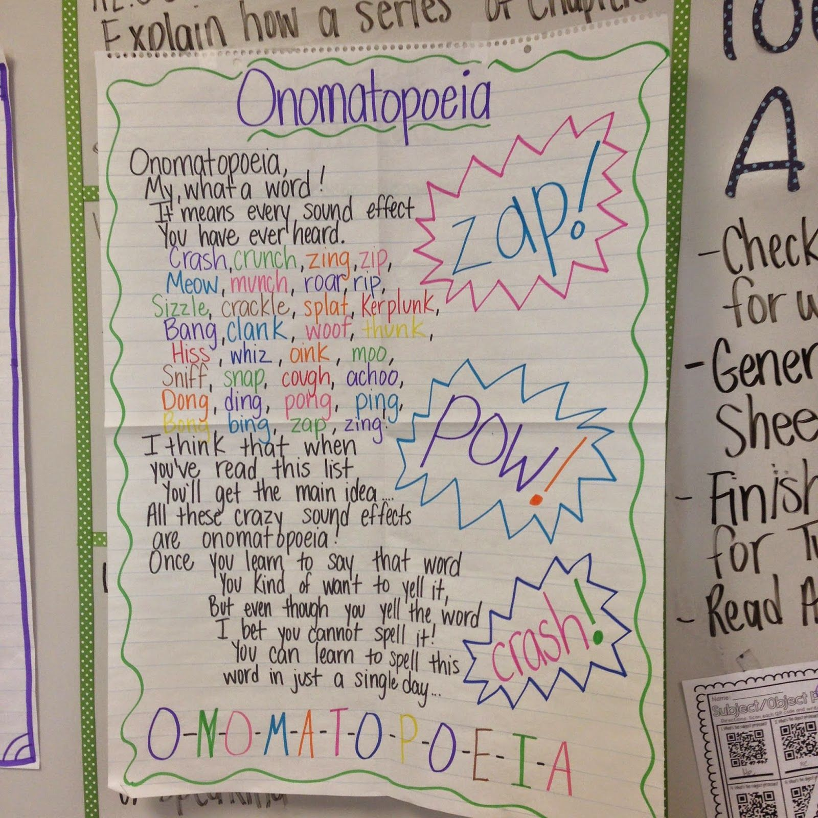 Life In Fifth Grade Teaching Onomatopoeia With Batman And Tcr