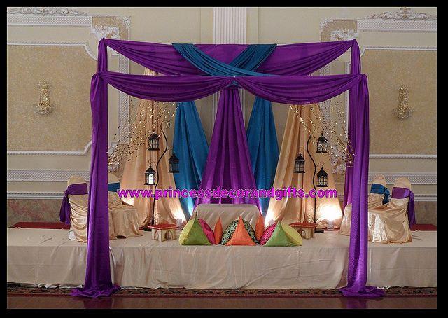 Teal And Purple Wedding Ideas: Purple, Teal & Gold Mendhi Decor