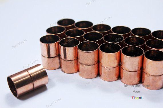 3 Sätze 15mm Durchmesser Loch rot Kupfer Zylinder von Ticent