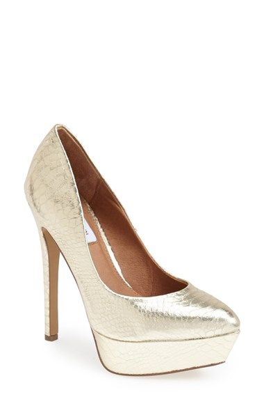 b664baa77418 Steve Madden  Artist  Platform Pump (Women) at Nordstrom.com. A towering  platform and stiletto heel lift a gleaming snake-embossed pump cut with a  subtly ...