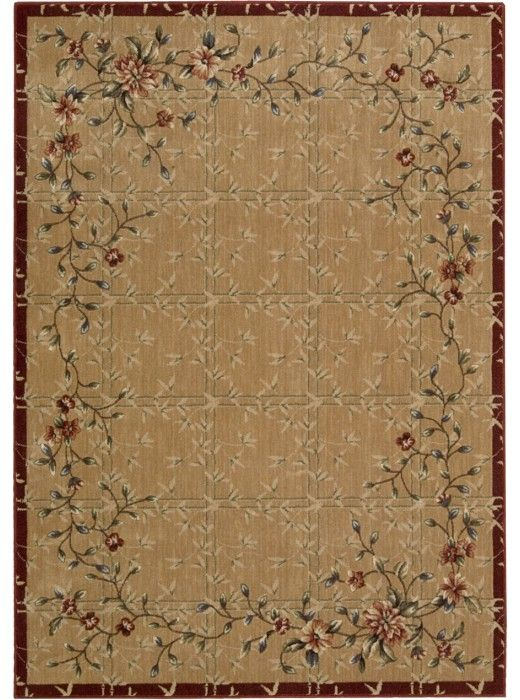 This Cambridge Beige Red Collection rug (CG07) is manufactured by Nourison. The Cambridge Collection Presents a Wide Assortment of Traditional and Transitional Designs, Machine Constructed of Polyacrylic Fibers for Excellent Color Retention and Long Lasti