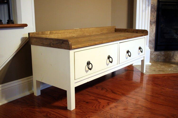 DIY Storage Bench with D. Lawless Hardware - August's FFFC - Handmade with Ashley