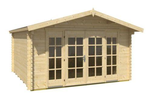 Gartenhaus Blockhaus 4 X 3 M 40 Mm Holzhaus Inkl Boden Topqualitat Neu Ebay Gartenhaus Haus Holzhaus
