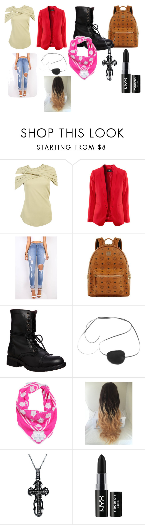 """Your Pirate Outfit"" by lizzie12304 on Polyvore featuring Givenchy, MCM, Steve Madden, Ciel, Kenzo, Mystic Light, NYX, men's fashion and menswear"