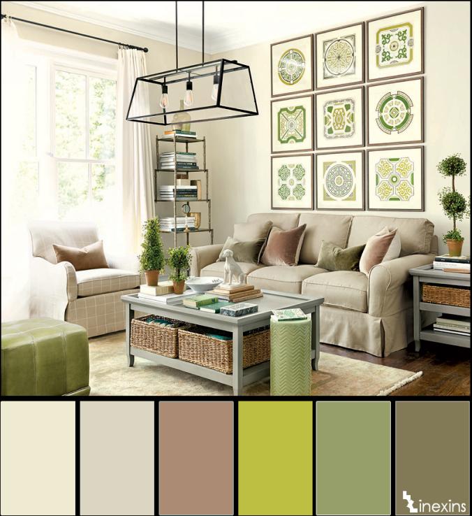 Creando calma en un espacio 10 paletas de color que te for Paleta de colores para interiores