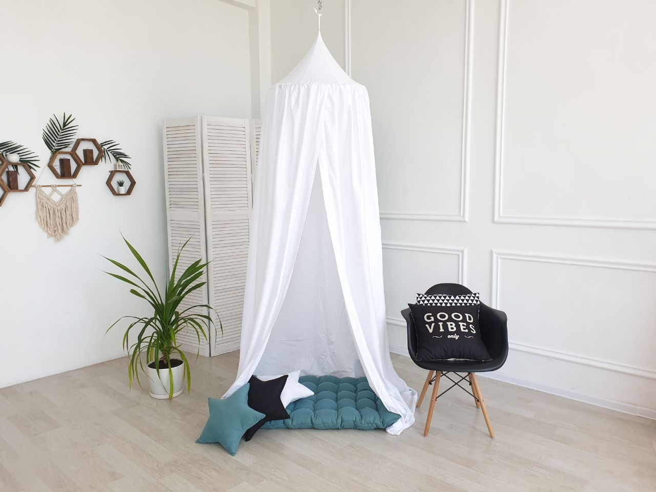 White Canopy Nursery Canopy Mint Color Canopy Canopy With Mat Cozy Nursery Canopy Baldachin Canopy Princess Playhouse White Canopy Baby Room Neutral Baby Room Decor