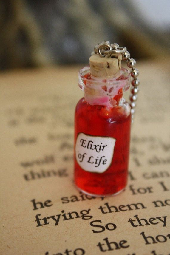 The elixir of life- The liquid part of the master work.  It can give eternal youth.