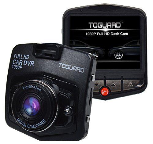 Toguard Enregistreur de conduite embarqué avec écran LCD Full HD 1080p 2,4″, capteur-G, détecteur de mouvement, enregistrement en boucle et…