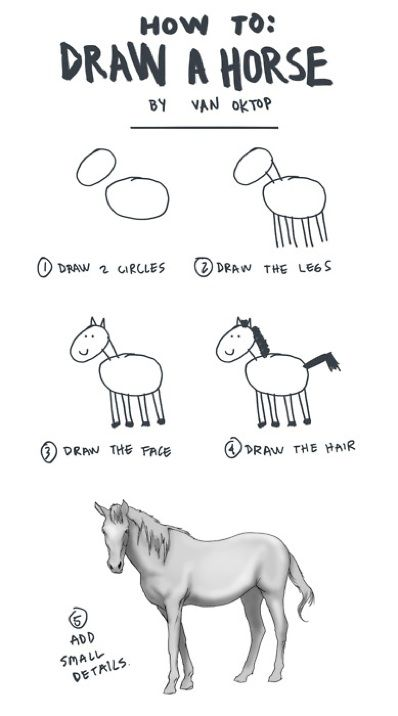 How to draw a horse this is basically how my artist friends try and teach me how to draw