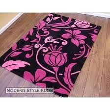 Black And Pink Rugs