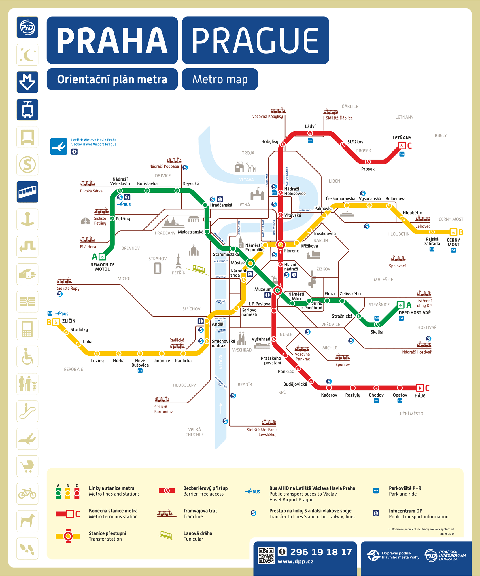 Prague Metro Map Prague Travel Prague Metro Map