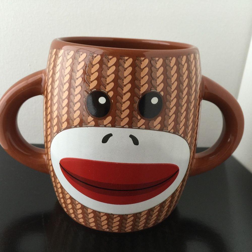 Unique Collectors Monkey Design Brown Ceramic Hot Cold Drink Beverage Mug Cup #Galerie