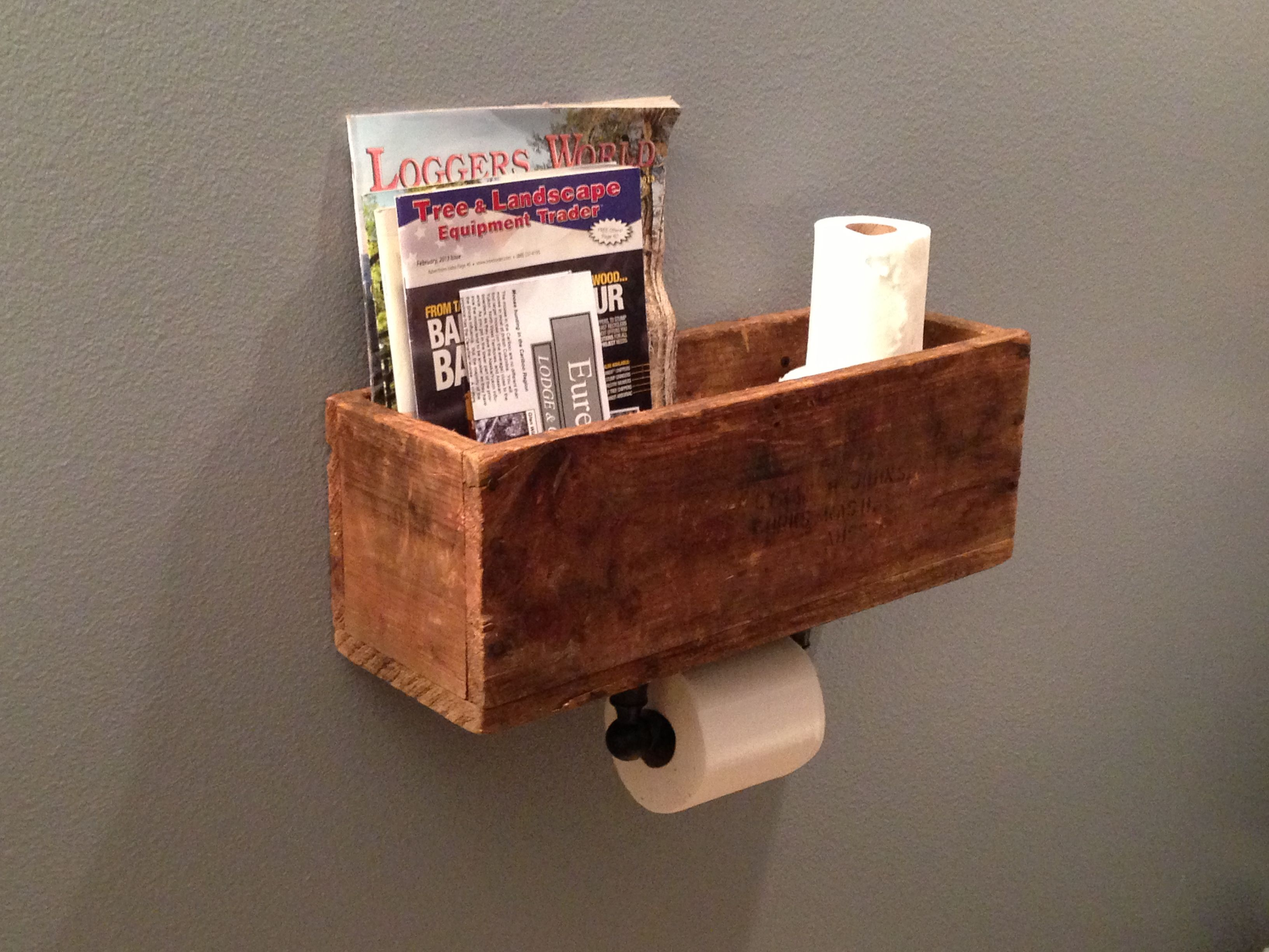 Diy Magazine Rack Toilet Paper Dispenser Very Clever