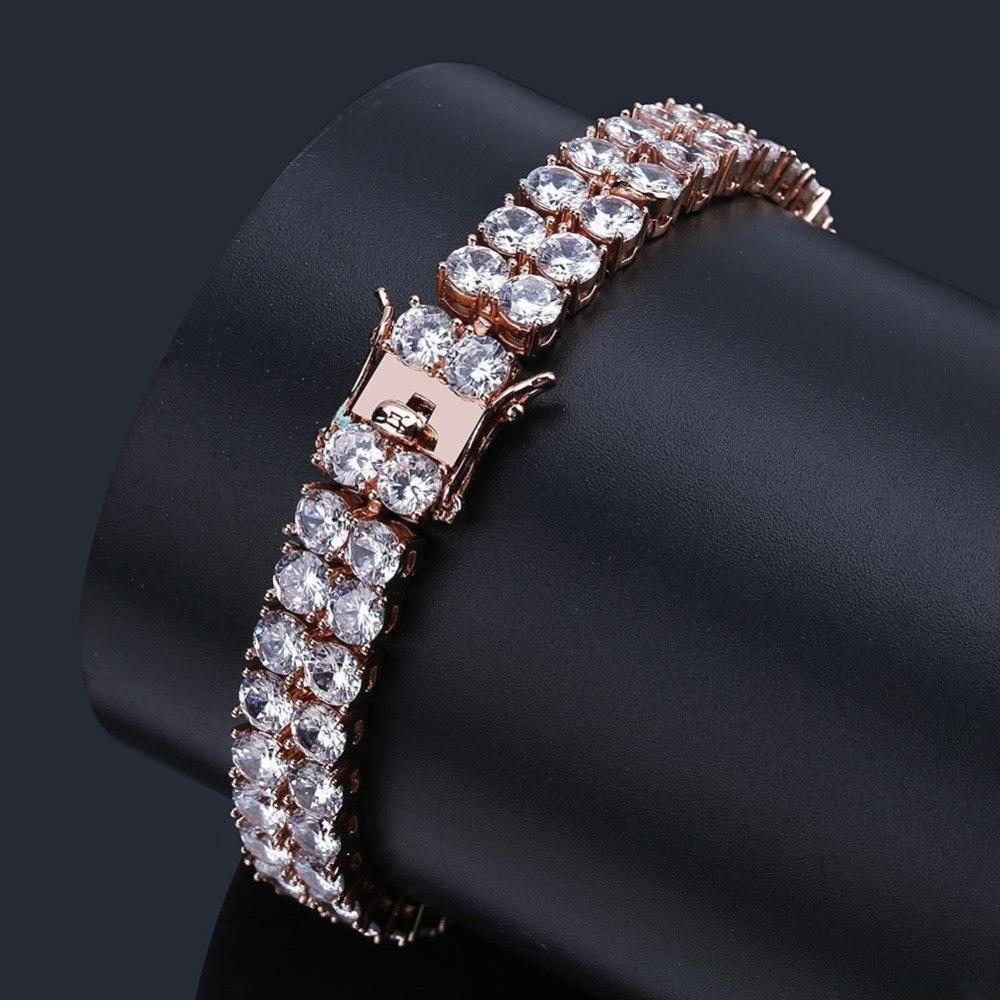 Missfox Hiphop Double Row Men Tennis Bracelet 7mm Gold Silver Rosegold Quotes Famous Brand Jewelry Meus Pedidos Brazale Jewelry Bracelets For Men Charm Jewelry