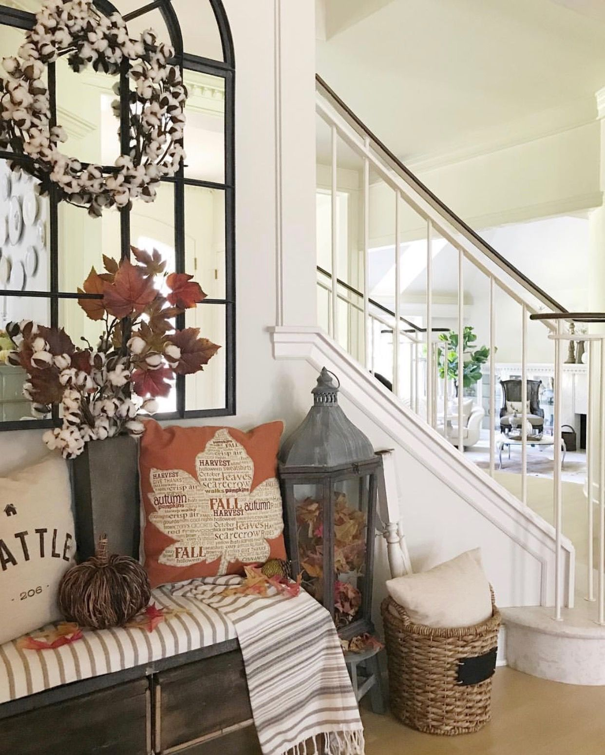 Decorate for fall like a pro with designer tips. The Design Twins share best advice for seasonal decorating u0026 tons of inspiration in their Fall Home Tour & Pin by Debbie Davis on thanksgiving | Pinterest | Decorating DIY ...