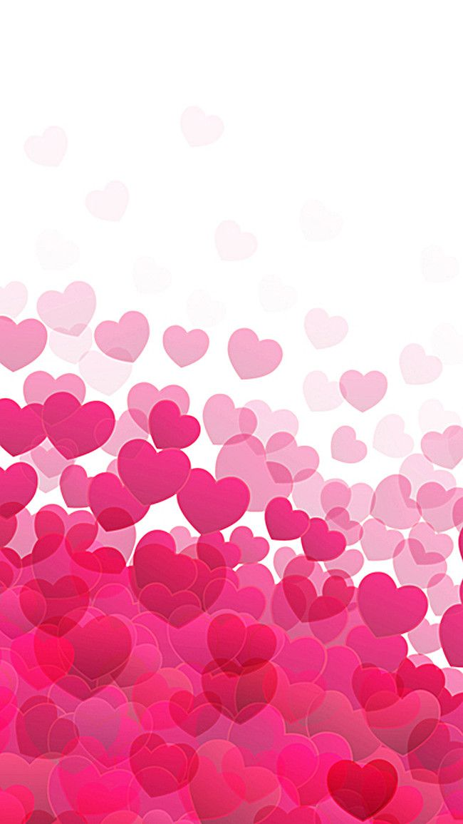 Love Red Background Vector H5 Pink Heart Background Love Backgrounds Iphone Wallpaper Girly