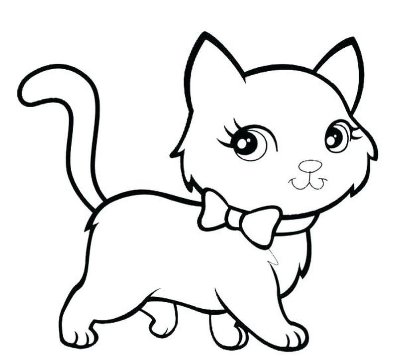 Cute Kitten Coloring Pages Kitten Coloring Page To Download And Coloring Here Is A Free Coloring Page Of Kitten Have Fun And Smile Keep Cute Kittens Bayi Hewan Dan Kucing Bayi