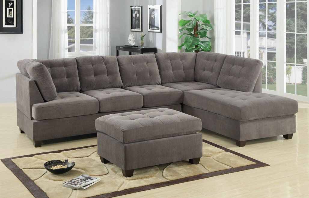 Giovanny Reversible Sectional Sectional Sofa With Chaise Grey