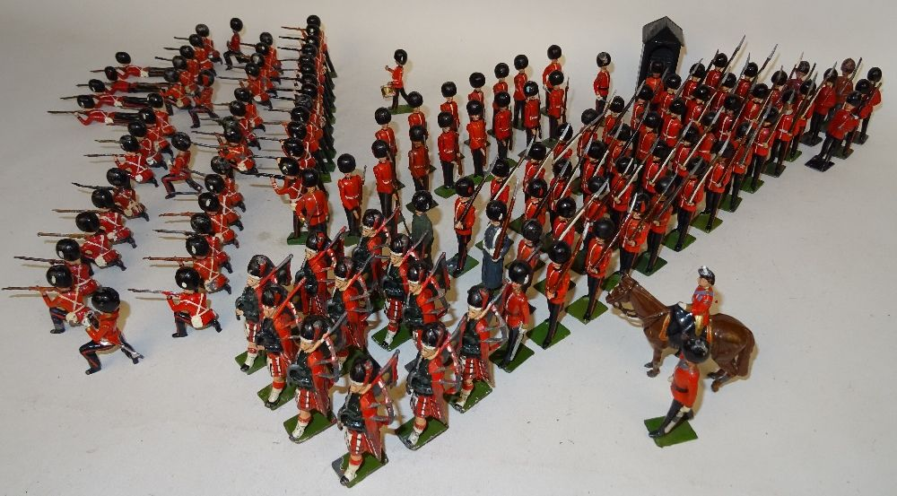 Lot 185 * Britains Foot Guards firing, marching with