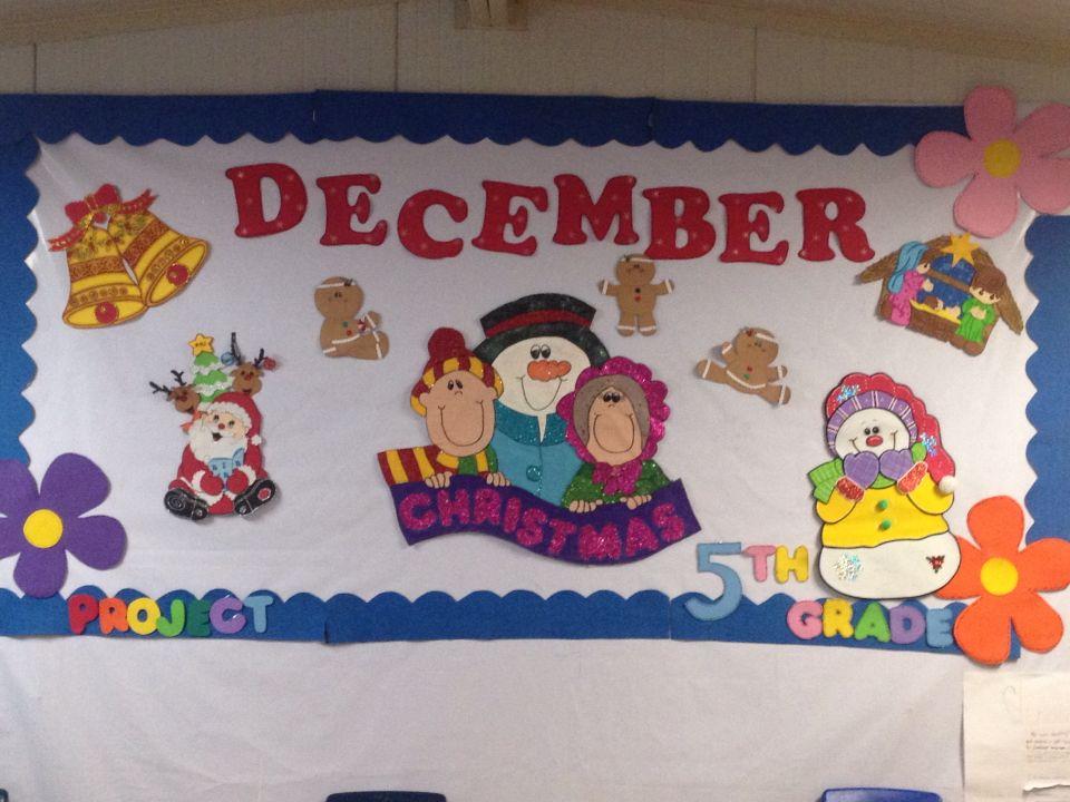 Periodico mural en pell n diciembre carteles para - Murales decorativos de navidad ...