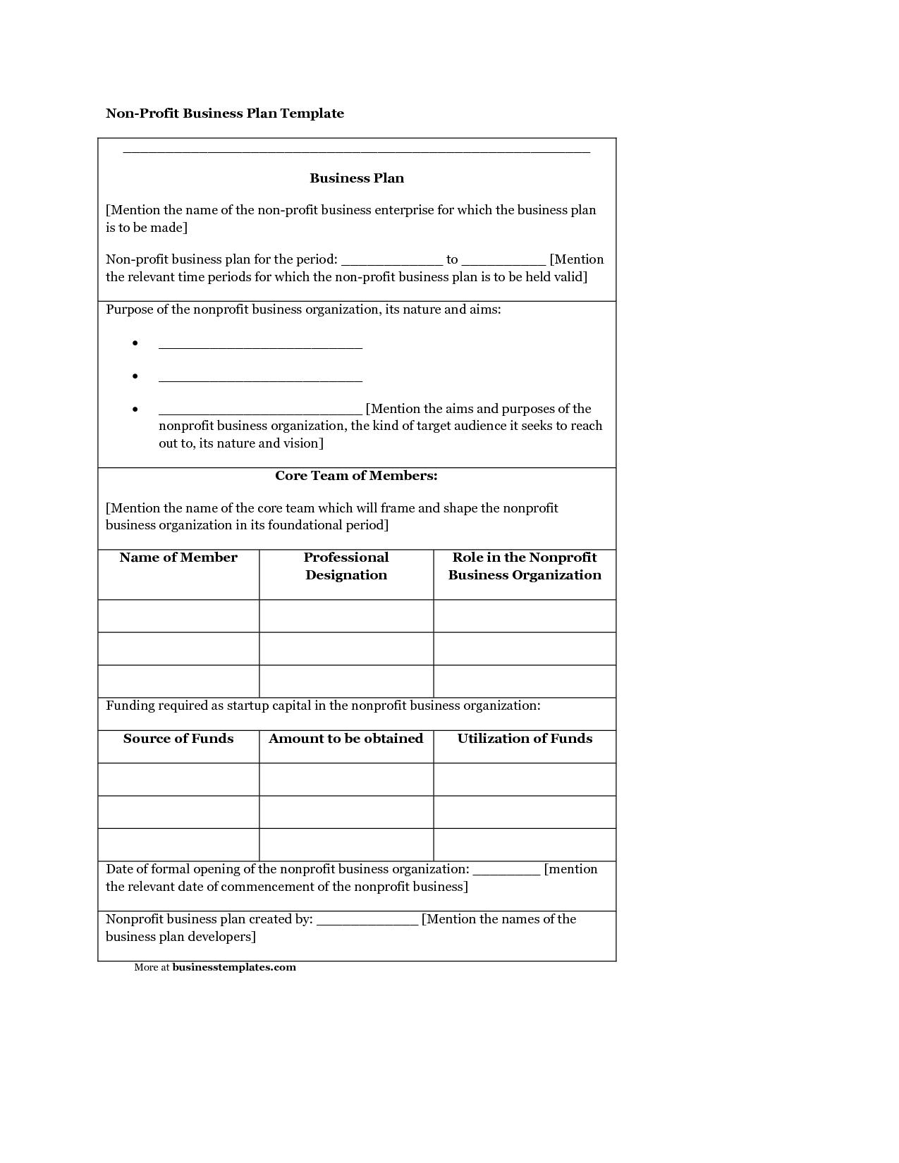 Non Profit Template Organizational Chart Best Free