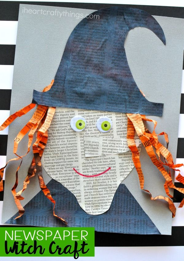 Creative Newspaper Witch Craft Fun Kids Crafts Ideas Fun