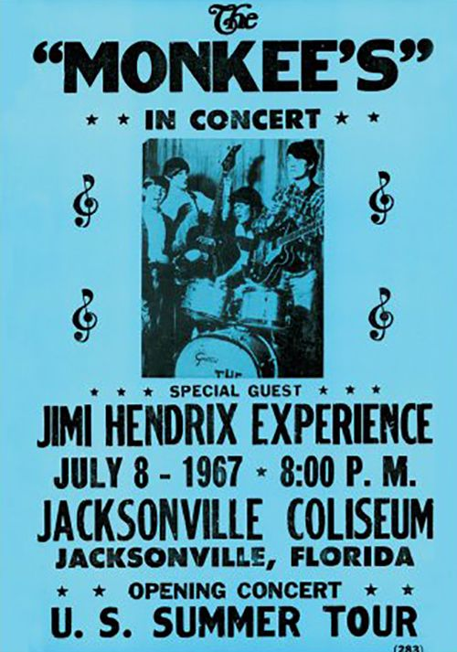 A vintage Rock Concert poster from June 1968 featuring Jimi