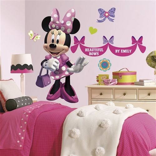 51 Peel And Stick Wall Decals Large Minnie Mouse Bows