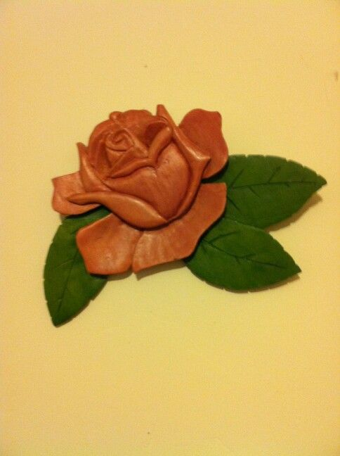 Rose carving. 7x5x1/2inch