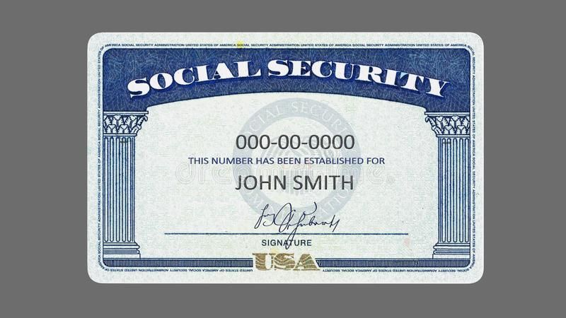 Social Security Card American Social Security Card Generic Filled Ssn 32 Megapixels Royalty Free Stock Photo Social Security Card Card Template Best Templates