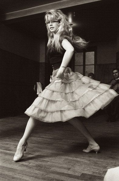 Beautiful Brigitte Bardot Dancing!  1960s Style Icon Dance Skirt