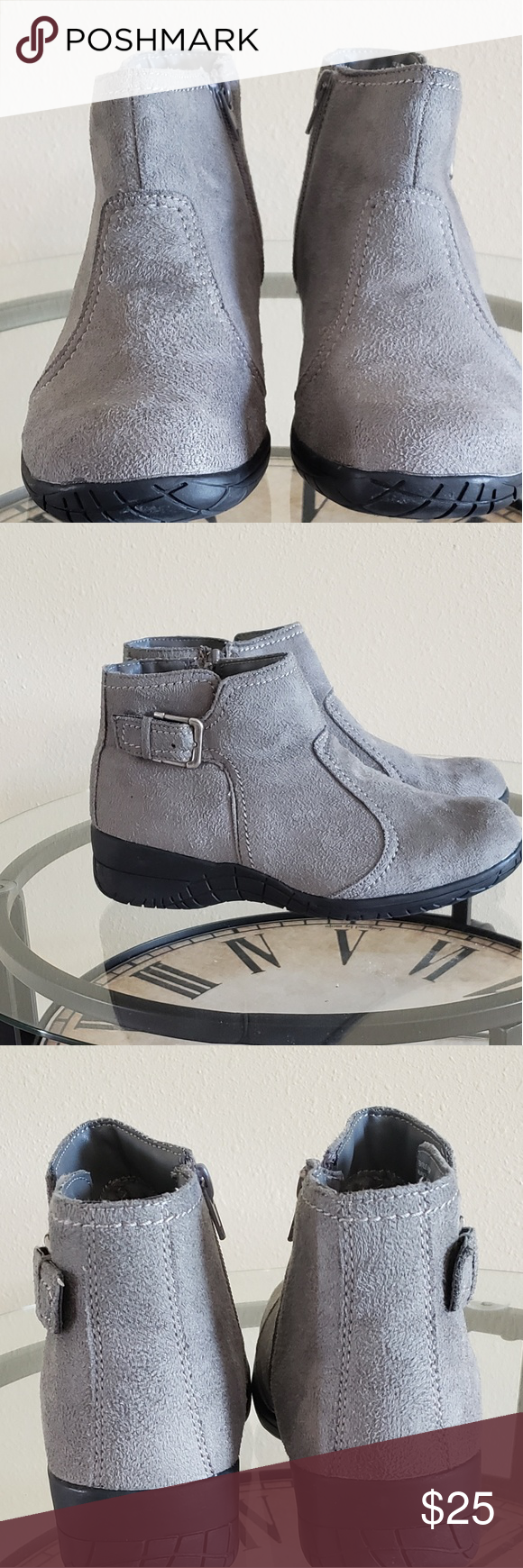 358bdcab2e2 Basic Edition Grey Booties Grey Booties Worn Twice Still In Good Condition  for Future Owner Basic Editions Shoes Ankle Boots   Booties