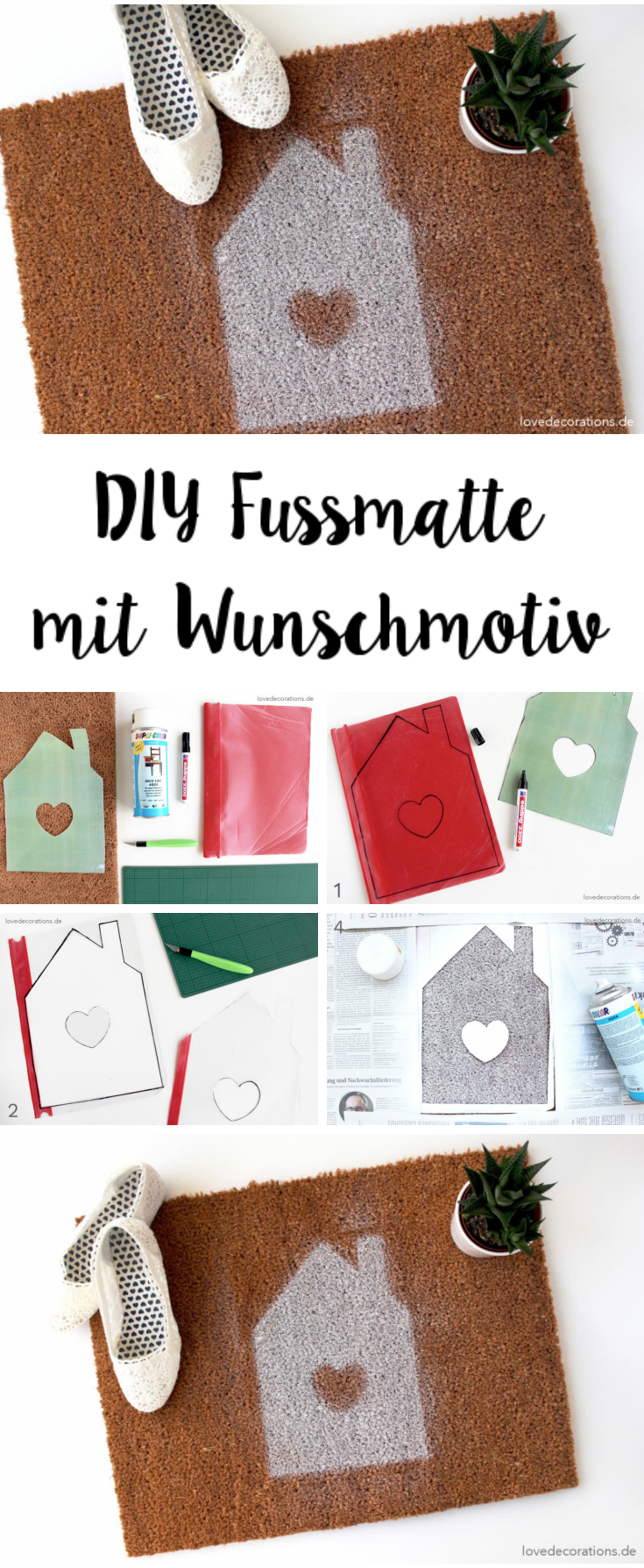 diy fu matte mit wunschmotiv und diese komischen tage hallo herbst blogparade gestalten diy. Black Bedroom Furniture Sets. Home Design Ideas