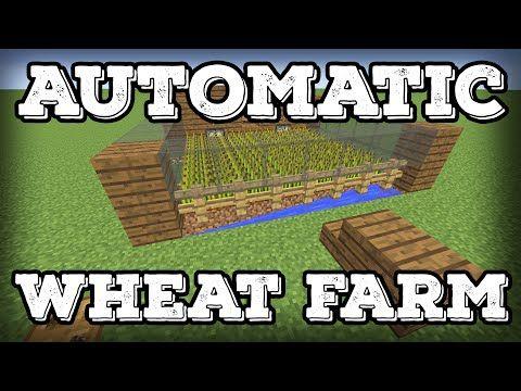 Minecraft Building Tutorial Automatic Wheat Farm Automatic Replanting Minecraft 1 8 Minecraft Farm Minecraft Building Minecraft
