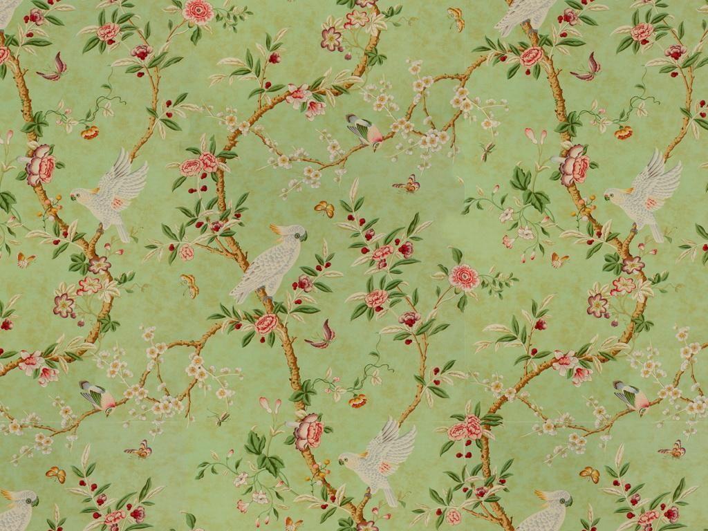 Thibaut Toile Portfolio Rockwood Toile Fabric Green on White