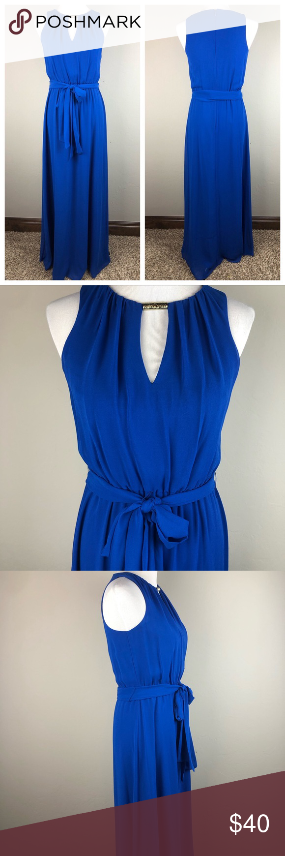 Vince Camuto Royal Blue Keyhole Maxi Dress 2 Maxi Dress Sleeveless Maxi Dress Dresses [ 1740 x 580 Pixel ]