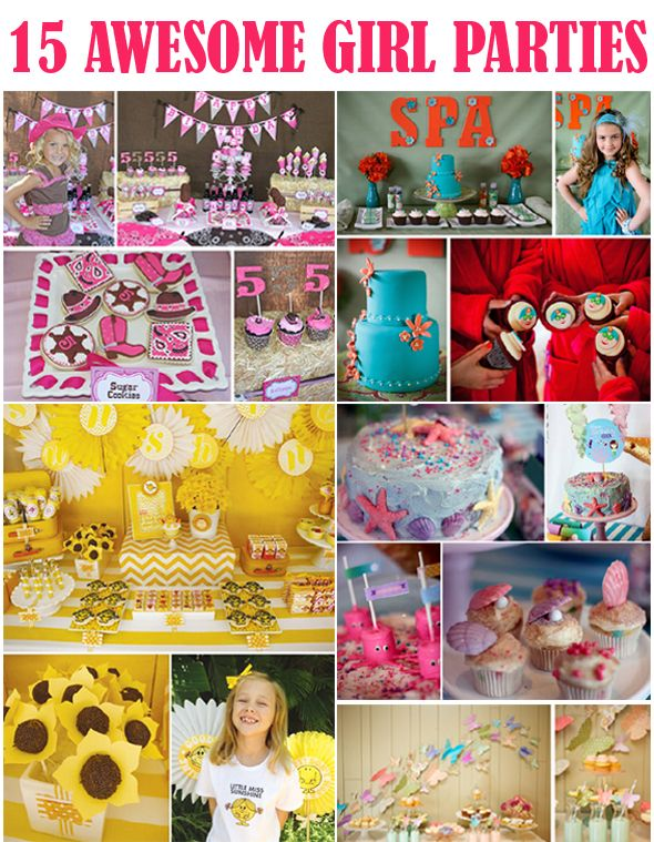 15 Awesome Girl Parties Kids Party Themes Girls Birthday Party