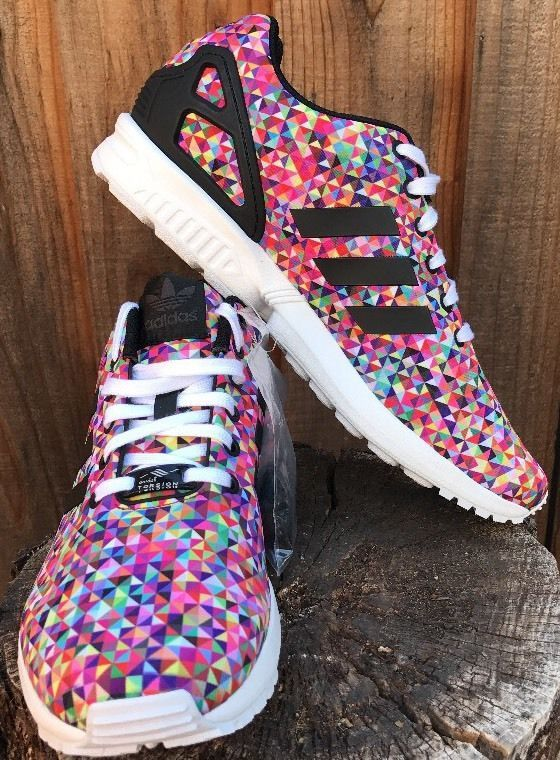 e5ed0ac6e ... new zealand mens shoes sz 10.5 us adidas zx flux prism multi color  rainbow running ds