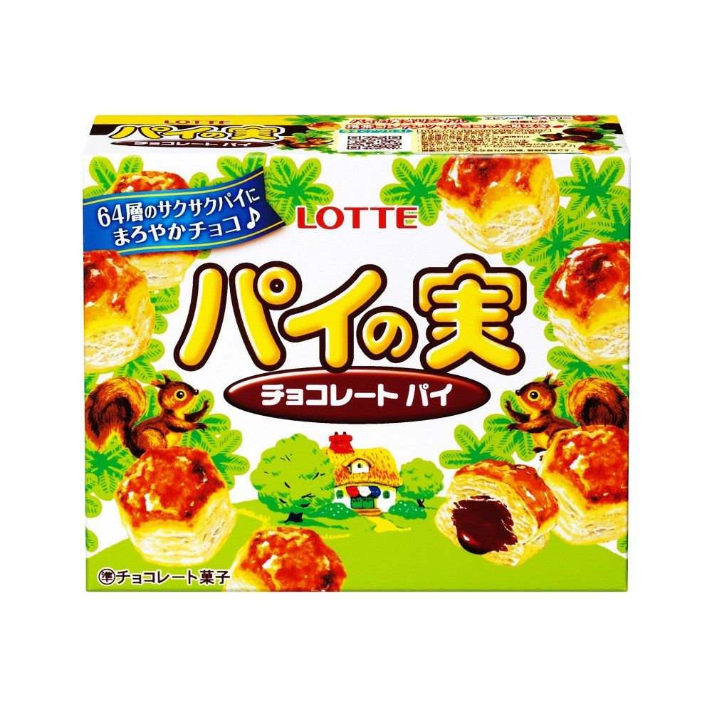 LOTTE Pie no Mi Chocolate Biscuit 73g - Made in Japan in