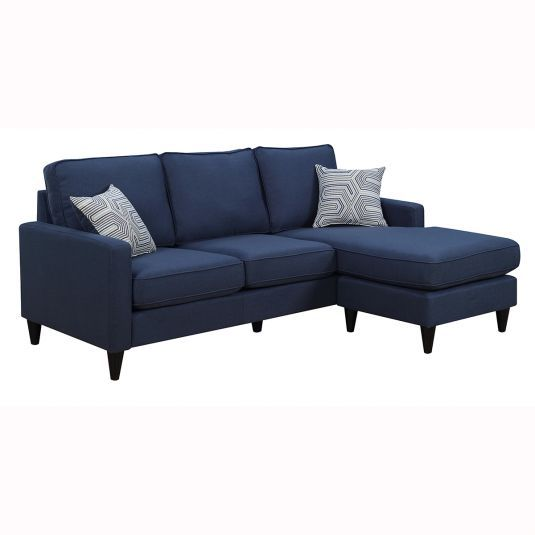 Terrific Nova Sectional Sofa Chaise In Blue Jeromes Furniture Ncnpc Chair Design For Home Ncnpcorg