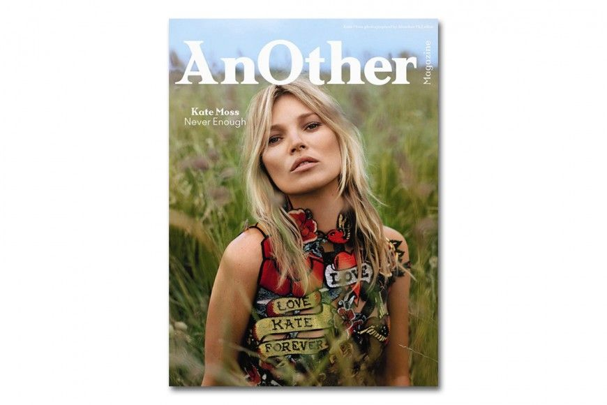 Kate Moss couverture AnOther Magazine on Trends Periodical