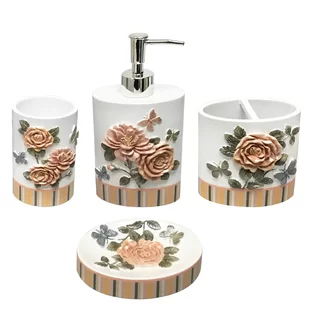 Bathroom Sets Sale Up To 65 Off Through 4 24 Wayfair Repainted For Wonderland Style 3 Paint The Rose In 2020 Bath Accessories Set Bathroom Sets Bath Accessories