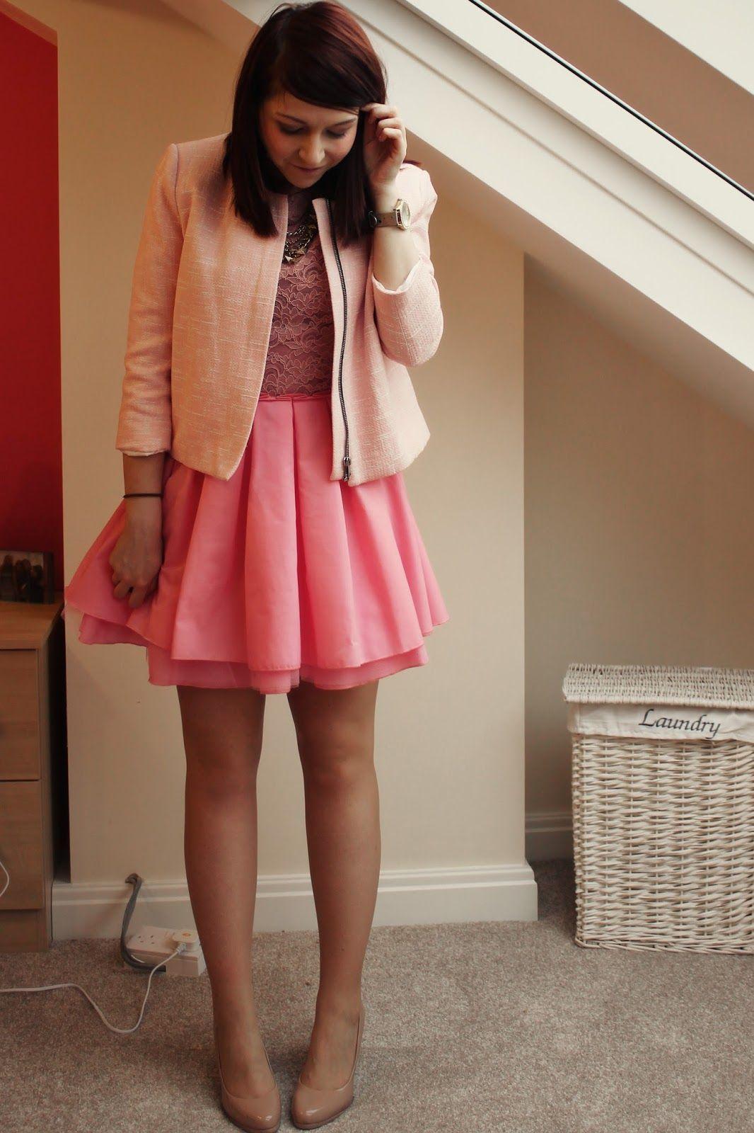 Pink Boucle Jacket, Pink Dress, Jones And Jones, Audrey -2748