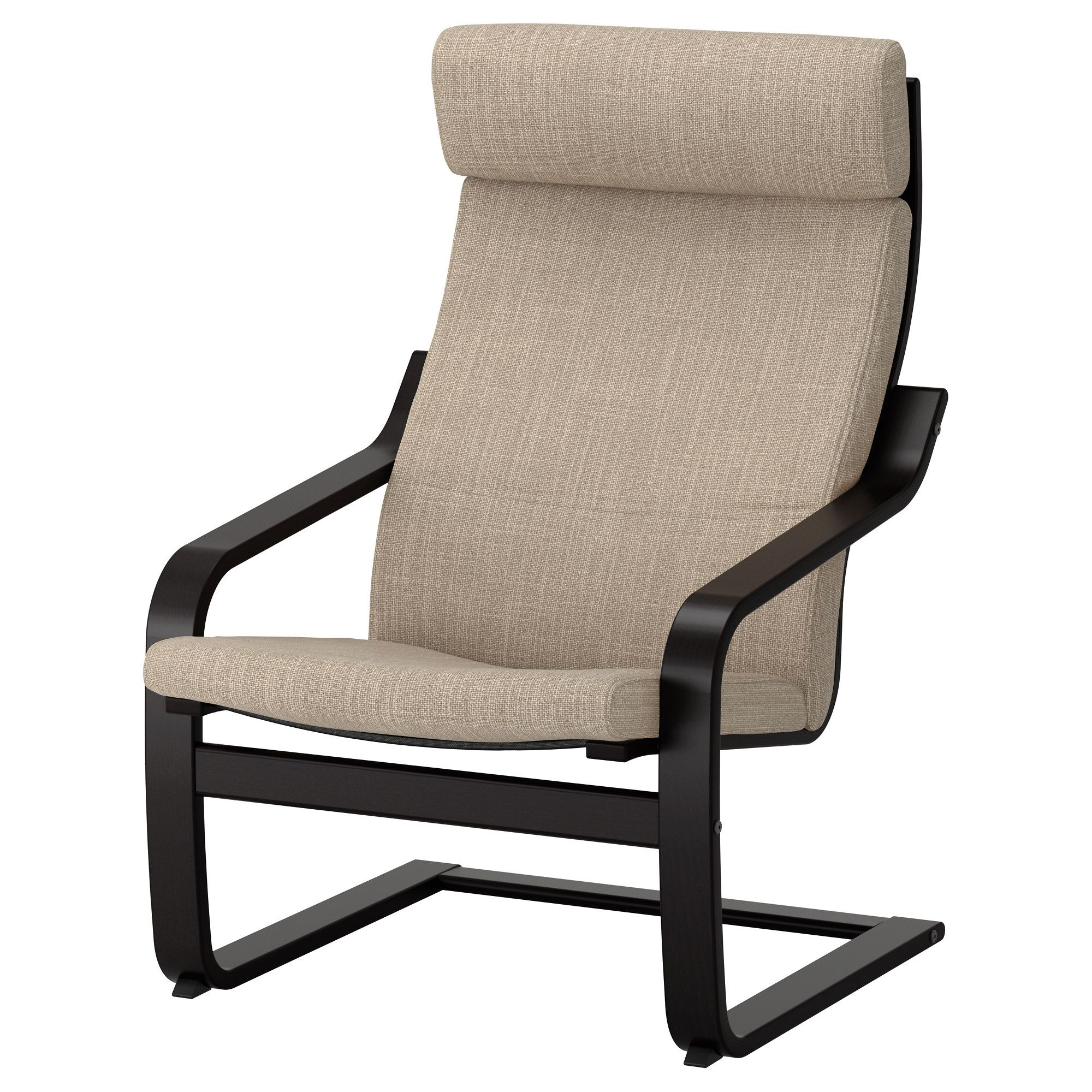 Poäng Ikea Sessel Ikea PoÄng Armchair Black Brown Hillared Beige Products