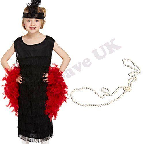 Wicked *CLEARANCE* Jazzy Flapper Red Dress Women/'s Fancy Dress Costume