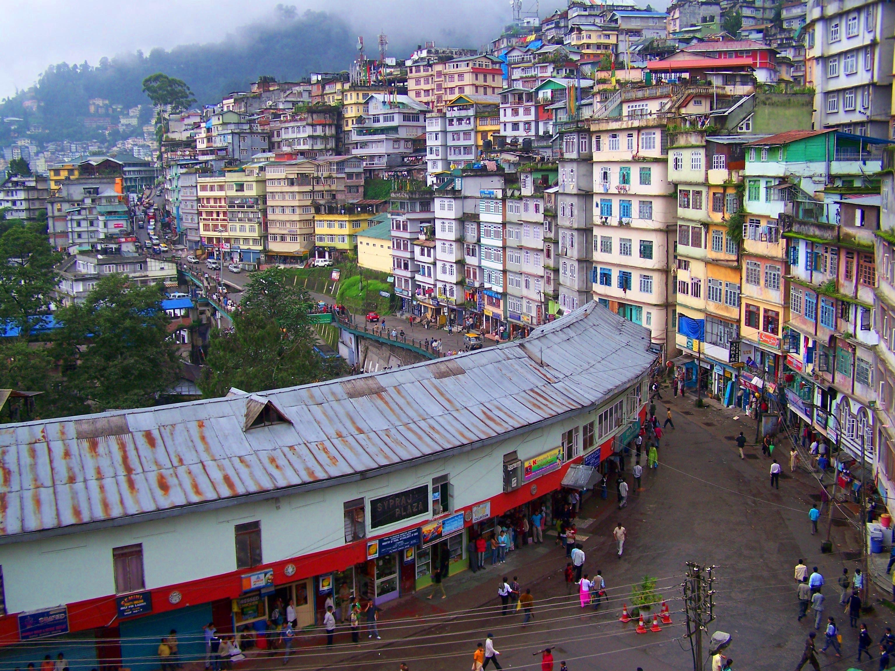 Famous Pedestrian Paradise M G Road In Gangtok India