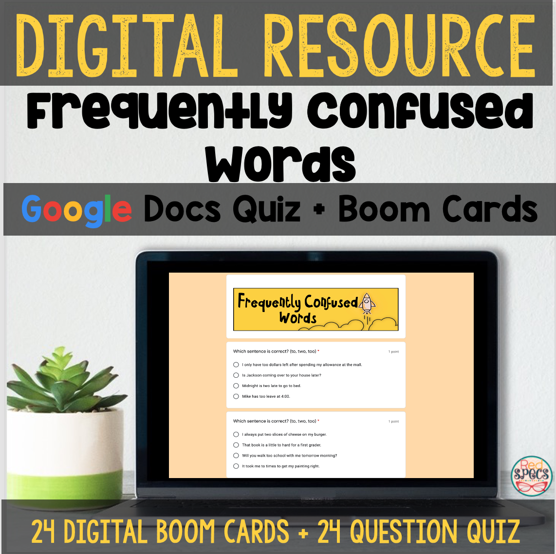 Frequently Confused Words Boom Cards Docs Quiz